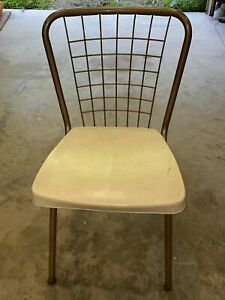 Howell Mid Century Modern Vintage Metal Back Kitchen Dining Chair Retro Deco a