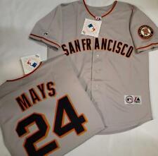11008 Majestic San Francisco Giants Willie Mays Sewn Baseball Jersey Gray New
