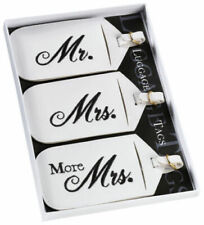 Luggage Tags Travel Suitcase Bag ID Mr Mrs More His Her Wedding Accessories