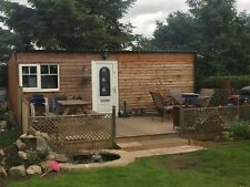 Garden Summer House Wooden Log Cabin Side Storage Shed Family Room Office 12 x 8