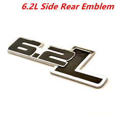 6.2L Metal Side Rear Emblem For Chevy Camaro SS Trunk Fender Badge Sticker 1Pcs