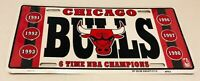 Vintage Chicago Bulls 6 Time NBA Champions Logo Metal License Plate