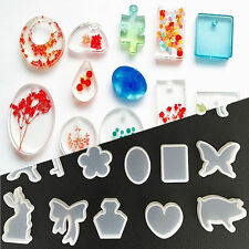 Clear Silicone Mold Making Jewelry Pendant Resin Casting Mould DIY Craft Tool US