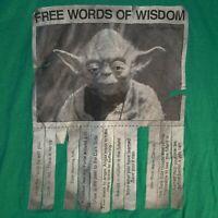 Star Wars - Men's Medium Yoda Crewneck Graphic T-Shirt Green