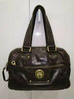 Marc by Marc Jacobs Chocolate Brown Leather Satchel Shoulder Bag Handbag Purse