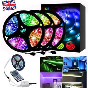 2-20M LED Strip Lights RGB 3528 SMD Tape TV Cabinet Kitchen Lighting 44 key uk