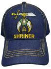 Shriners Baseball Cap Shriner Hat Denim Blue Jean Masonic Mens w/ Sphinx Emblem