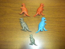 5 DINOSAURS all ALLOSAURUS Marx/MPC/Nabisco? 2- 3 inches - 1960's LOT B