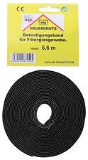 wip Befestigungsband für Fliegengitter Schwarz 3,4 m Klebeband Insektenschutz