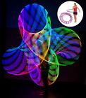 Flash Lights Colorful light flash LED hula hoop fitness increased >