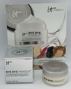 IT Cosmetics Bye Bye Makeup 3-in-1 Makeup Remover Melting Cleansing Balm 10g New
