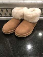 Women's UGG Classic Mini Fluff Chestnut Boots- Size 8- 1106757