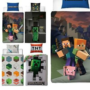 Official Minecraft Licensed Duvet Covers Single/Double Creeper TNT Bedding