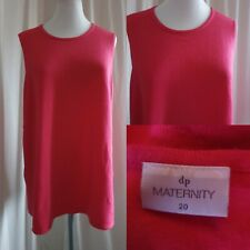 Size 20 Dorothy Perkins Maternity Pink Sleeveless Jumper (16-15)