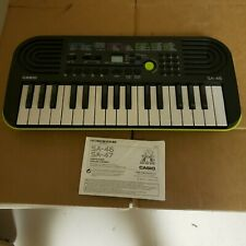 CASIO SA-46 Mini Keyboard Black & Green Electronic Musical Battery Power