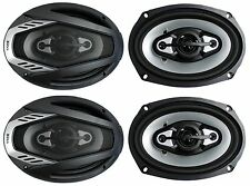 "4) NEW BOSS NX694 6x9"" 1600W ONYX 4-Way Car Audio Speakers 1600 Watts 2 Pair"