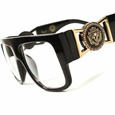 Millionaire Swag Hip Hop Rapper DJ Night Club Black Clear Lens Eye Glasses D76A