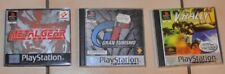 Lot 3 jeux console PS1, Gran Turismo, Metal Gear, V-Rally
