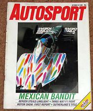 Autosport 16/10/86* MEXICAN GP - AUDI SPORT RALLY- BATHURST 1000 - MAZDA 323 4x4