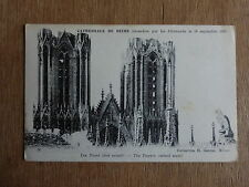 cpa cathédrale de reims,les tours