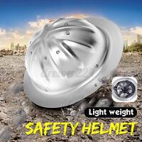 Lightweight Aluminum Full Brim Hard Hat Safety Helmet Protected Construction