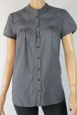 Sussan Short Sleeve Solid 100% Cotton Tops & Blouses for Women