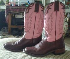 Biltrite Womens 6 1/2 Pink & Brown Leather Western Riding Boots Barely Used