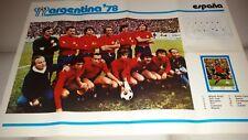 POSTER GIGANTE Argentina '78  Squadra Spagna  / Espana  cm 70 50 circa.