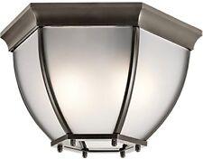Kichler 9886OZS 80W Signature 2 Light Outdoor Flush Mount Ceiling Fixture