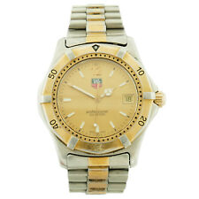 TAG HEUER WK1111-0 GOLD DIAL 2-TONE STAINLESS STEEL MENS WATCH FOR PARTS/REPAIRS