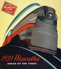 VINTAGE 1939 HIAWATHA MILWAUKEE ROAD TRAVEL AD POSTER PRINT 36x32 9MIL PAPER