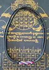 PANDANT NECKLACE BUDDHIST AMULET BLACK HANDMADE ROPE THAI FLAG COLOR 1 HOOK