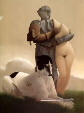 Michael Parkes ST GEORGE Knight Dog Nude surreal magical fantasy art print