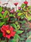 """The flower Garden. Vibrant Oil Painting 7x5"""""""