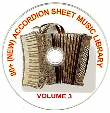 80+ SONGS! - HUGE VINTAGE ACCORDION SHEET MUSIC COLLECTION! - CD#3 of 10