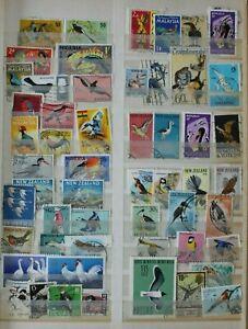 World  Birds  Angola Nigeria Malaysia Singapore Ecuador Nigeria etc.  160 Stamps