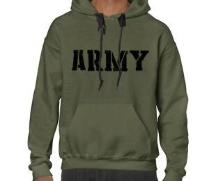 US Army Military Men's Sweatshirt Hooded Hoodie Winter Sport Gift