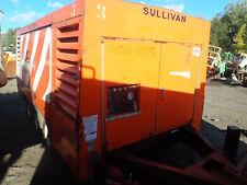Sullivan D1600qhc 1600 Cfm Air Compressor Video Cat Diesel Trailer 150 Psi