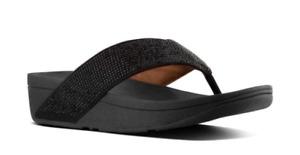 Fitflop Ritzy Black Flip Flop Sandal Women's sizes 5-11/NEW!!!