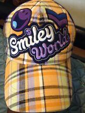 Smiley World Baseball Cap Hat Snapback Adjustable Purple GXN