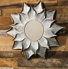 Cape Craftsmen Galvanized Metal Flower Wall Mirror