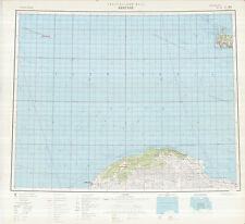 Russian Soviet Military Topographic Maps  - BANDHAZI (Libya), 1:1Mio, ed.1976