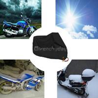 Housse Noir Moto Couvre-Moto Vélo VTT Scooter Anti-UV Soleil Etanche XL 200cm