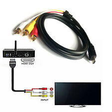 1x 5ft 1.5M 1080P HDMI Male to 3 RCA Audio Video AV Transmit Cable Cord Adapter