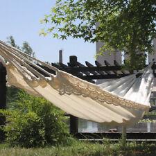White Outdoor Garden Back Yard Travel Camping Hammock Hang Bed Portable