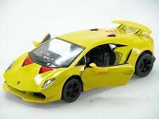 Kinsmart Lamborghini Sesto Elemento (Yellow) Scale 1:38 Die Cast Model Car