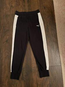 womens medium puma joggers black euc