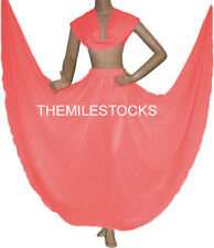 TMS SALMON Chiffon Skirt Veil Belly Costume Tribal Dress ROBE JUPE Dance EHS CSV