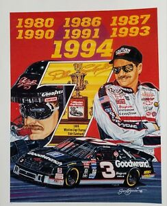 Dale Earnhardt Poster 24x36 inch rolled wall poster