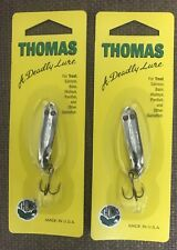 Custom Jigs /& Spins Slender Spoon Pro Gold//Rainbow Trout 1//8 Oz SL18-P-228